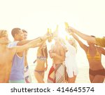 group of friends having a... | Shutterstock . vector #414645574
