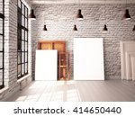 interior with a window in the... | Shutterstock . vector #414650440