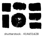 modern brush strokes. vector... | Shutterstock .eps vector #414651628