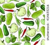 spring vegetables seamless... | Shutterstock .eps vector #414655216