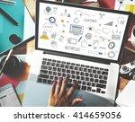 social networking internet... | Shutterstock . vector #414659056