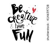 vector hand lettered... | Shutterstock .eps vector #414659728