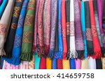 bright oriental coloured cloth... | Shutterstock . vector #414659758