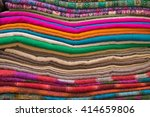 bright oriental coloured cloth... | Shutterstock . vector #414659806