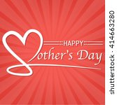 happy mother's day lettering... | Shutterstock .eps vector #414663280