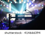 working sound control panel on  ... | Shutterstock . vector #414666394