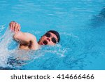 swimmer swimming competition... | Shutterstock . vector #414666466