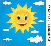 illustration  sun character | Shutterstock . vector #414669523