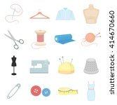tailor icons set.   | Shutterstock .eps vector #414670660