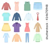 clothing icons set.  | Shutterstock .eps vector #414670948