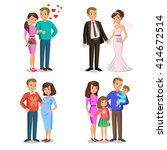 happy family stages. creating... | Shutterstock . vector #414672514