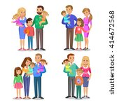 set of typical family in love.... | Shutterstock . vector #414672568