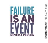 inspiration quote on white...   Shutterstock . vector #414674410