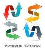 arrows set. vector double... | Shutterstock .eps vector #414678400