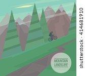spring picturesque mountain... | Shutterstock . vector #414681910