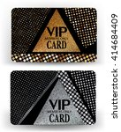 vip cards with modern geometric ... | Shutterstock .eps vector #414684409