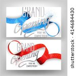 grand opening  cards with... | Shutterstock .eps vector #414684430