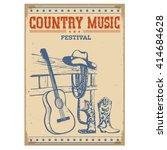 country music festival poster...   Shutterstock .eps vector #414684628
