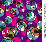 Abstract Eye Seamless Pattern....