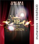 vip invitation card with gold... | Shutterstock .eps vector #414685630