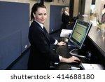 hotel receptionist. modern... | Shutterstock . vector #414688180