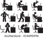 man office icon set | Shutterstock .eps vector #414690496
