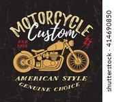 custom motorcycle t shirt... | Shutterstock .eps vector #414690850