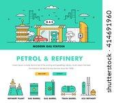 modern petrol industry thin... | Shutterstock .eps vector #414691960