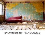 Couch In Abandoned Room