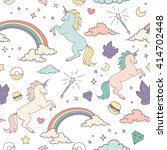 magic seamless pattern with... | Shutterstock .eps vector #414702448
