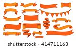 set of  ribbons and labels | Shutterstock .eps vector #414711163