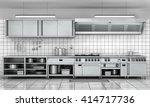 professional kitchen facade.... | Shutterstock . vector #414717736