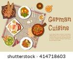 german cuisine with mixed...   Shutterstock .eps vector #414718603