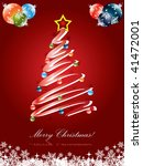 christmas tree card | Shutterstock .eps vector #41472001