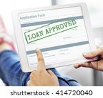 loan approved accepted... | Shutterstock . vector #414720040