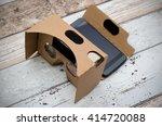 virtual reality cardboard... | Shutterstock . vector #414720088