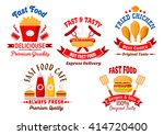 fast food icons with cartoon... | Shutterstock .eps vector #414720400