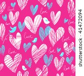 bright romantic seamless pattern | Shutterstock .eps vector #41472094