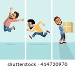 vector illustration of a three... | Shutterstock .eps vector #414720970