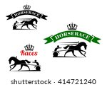 equestrian sport competition... | Shutterstock .eps vector #414721240
