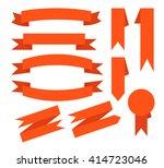 ribbon icons flat design | Shutterstock .eps vector #414723046