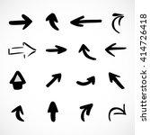 hand drawn arrows  vector set  | Shutterstock .eps vector #414726418