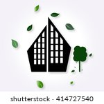 icon of the city with trees.... | Shutterstock .eps vector #414727540