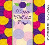rose mother's day card in... | Shutterstock .eps vector #414729223
