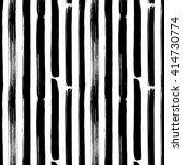 hand drawn brush vertical lines ... | Shutterstock .eps vector #414730774