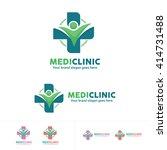 people health care logo ... | Shutterstock .eps vector #414731488