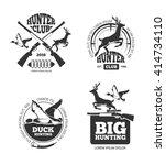vector retro vintage hunting... | Shutterstock .eps vector #414734110