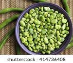 fresh green beans | Shutterstock . vector #414736408