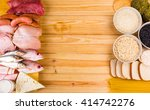 frame food made with protein... | Shutterstock . vector #414742276