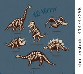 Funny Sketchy Fossil Dinosaurs...